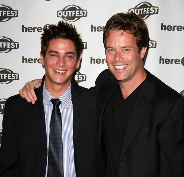 LOS ANGELES, CA - JULY 18: Actors Trevor Wright and Jackson Wurth attend an OUTFEST 2007 screening of Shelter at the Ford Amphitheatre on July 18, 2007 in Los Angeles, California. (Photo by Chad Buchanan/Getty Images)